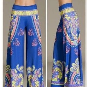 ce4e38ba518 Flying Tomato Bollywood palazzo pant wide leg Boho